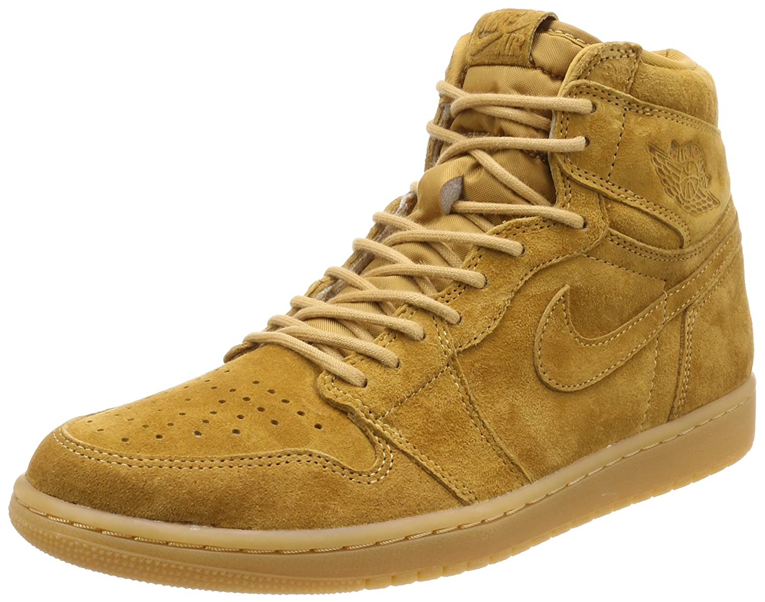 half off 8af60 4a29a Amazon.com   Jordan Nike Men s Air 1 Retro High OG Basketball Shoe 10.5  Yellow   Basketball