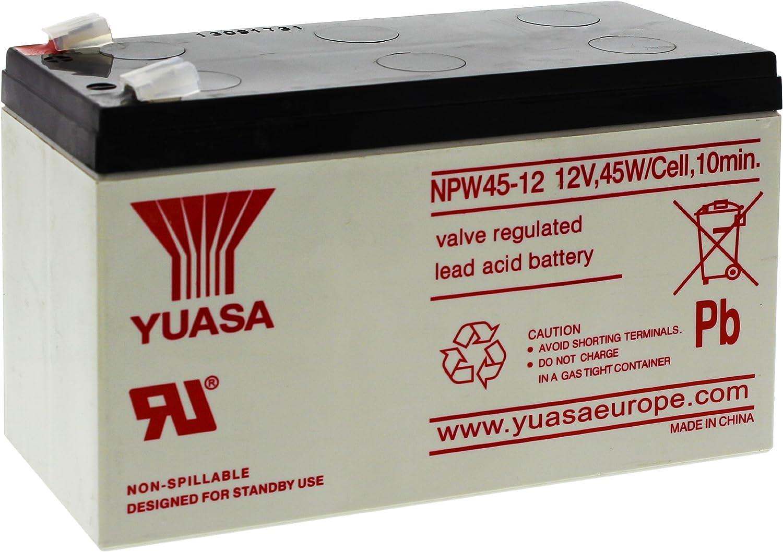 Yuasa NPW45-12 - Batería de alto rendimiento (12 V, 8,5 Ah, plomo ácido)