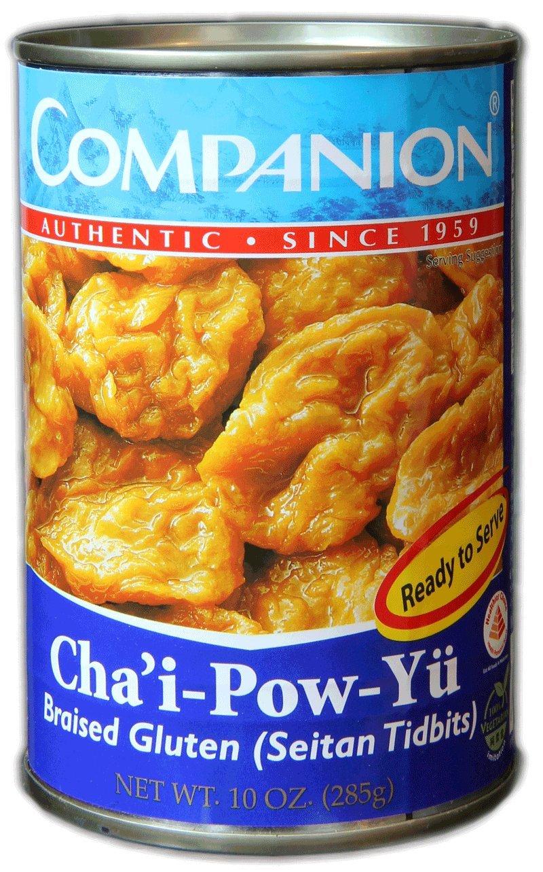 Companion - Braised Gluten Seitan Tidbits, 10 oz. Can (Pack of 6)