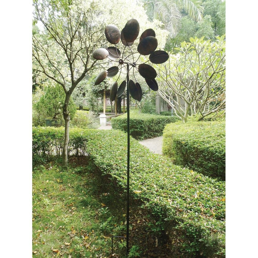 Amazon.com : Big Modern Art Kinetic Outdoor Metal Dual Wind Sculpture  Spinner Pinwheel : Garden U0026 Outdoor