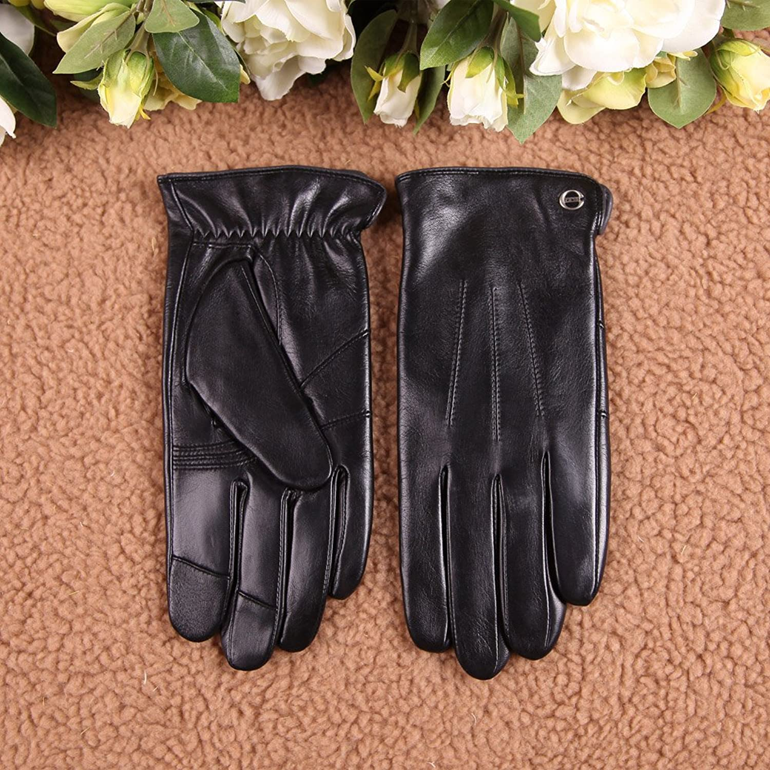 Leather driving gloves vancouver - Luxury Men S Touchscreen Texting Winter Italian Nappa Leather Gloves Plush Cashmere Lining Amazon Ca Clothing Accessories