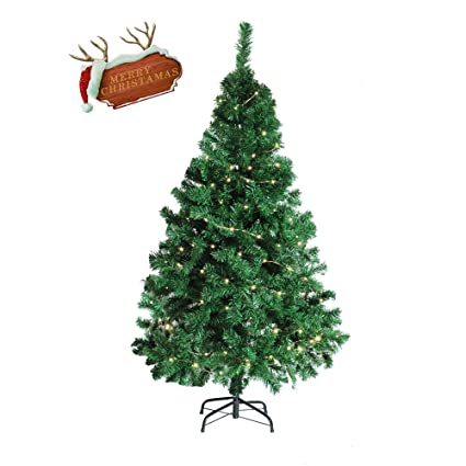 livebest 5 foot 450 tips artificial stand christmas tree faux pine with metal legs
