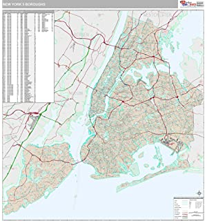Nyc 5 Boro Wall Map Laminated Hagstrom Map Company 9781592459582