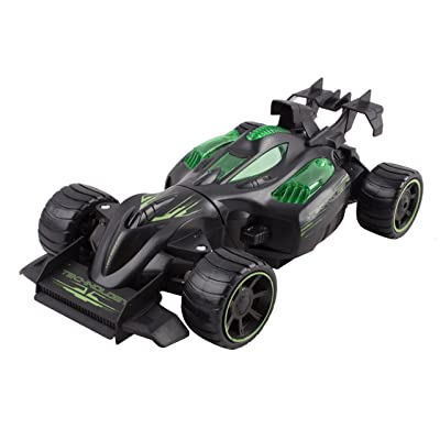 RC Remote Control Car 2.4 GHz Monster Formula Car 3-in-1 DIY Interchangeable Transforming Kit Toy Car 1:16 RECHARGEABLE (Black/Green)