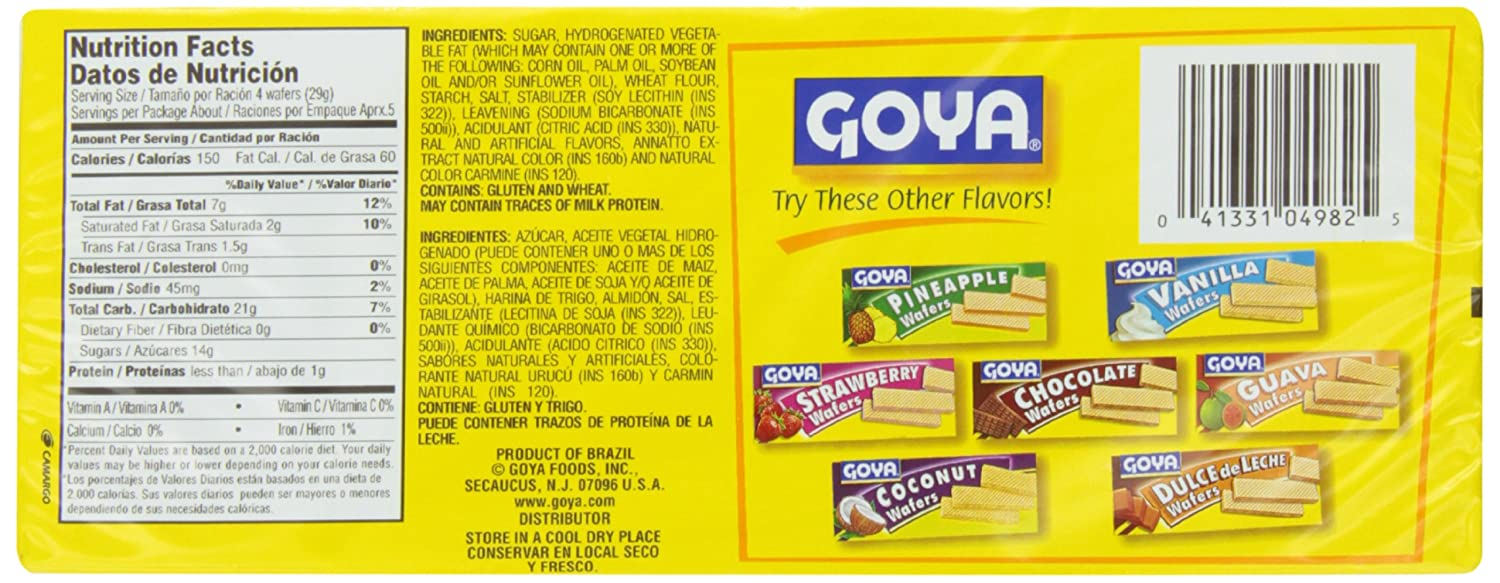 Goya Mango Wafer Cookies, 5.6 Ounce (Pack of 30): Amazon.com: Grocery & Gourmet Food
