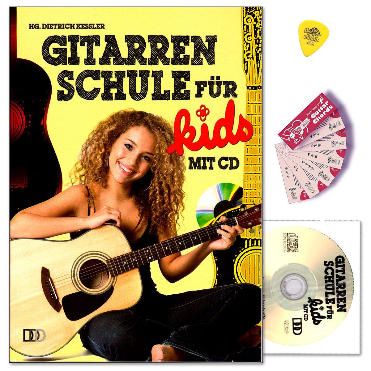 Guitarra Escuela para Kids sin la fragancia con CD, Dunlop Púa ...