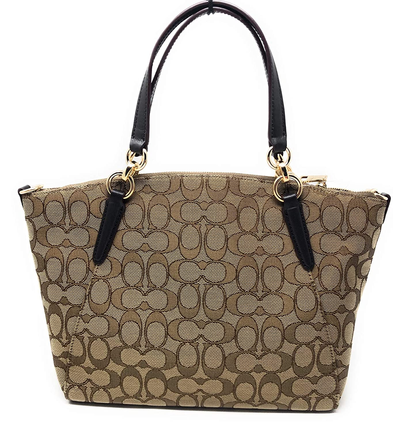 5f56601f08ef Amazon.com  SMALL KELSEY SATCHEL IN SIGNATURE JACQUARD  Clothing