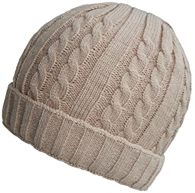 66e7d257e87 Mens or Womens Ribbed Cable Knit Beanie (Beige)  Amazon.co.uk  Clothing
