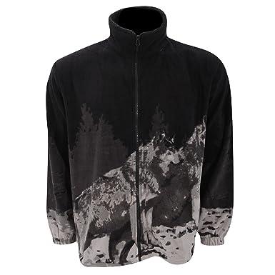 Chaqueta Polar con diseño Animal Husky de montaña para Mujer (Grande (L)/