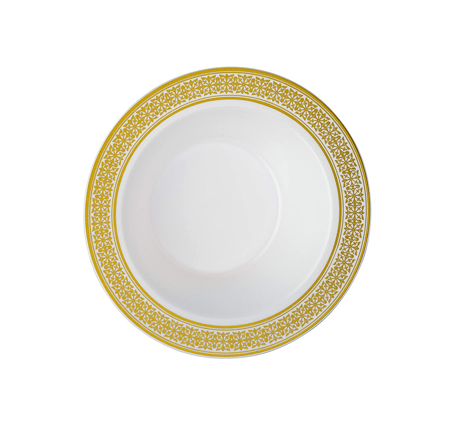 White Silver 20 Sets Laura Stein Elegant Plates Bowls 1 Combo Pack 40 Bowls