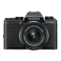 Fujifilm X-T100 Mirrorless Digital Camera w/XC 15-45PZ Lens kit Black