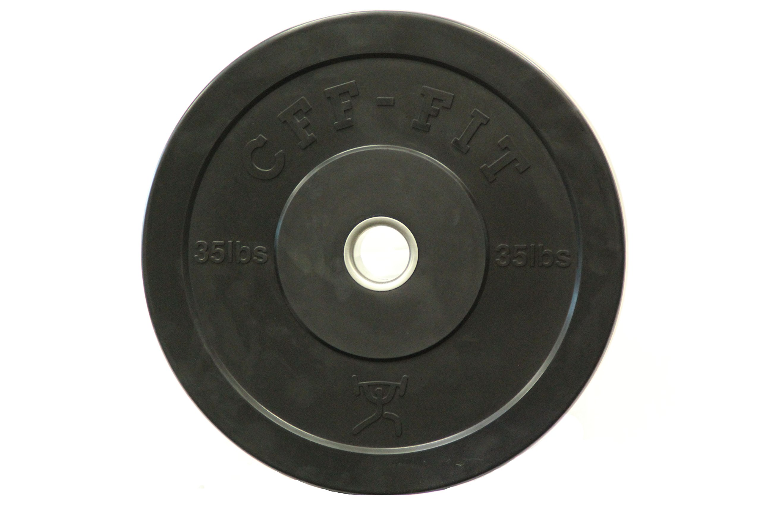 CFF Rubber Bumper Plates, Black, 35 lb