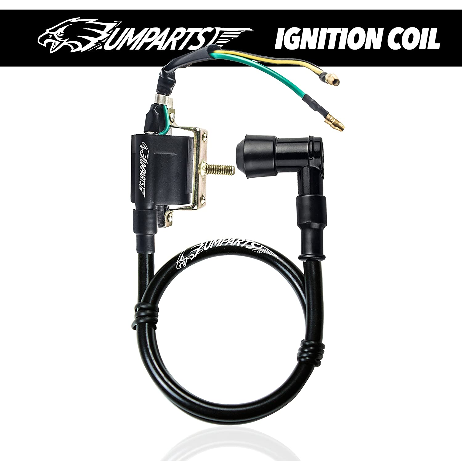 Ic2 Umparts 2 Wire Pin Black Ignition Coil Spark Plug Diagram Tao Ata 110d Parts For Taotao Youth Kids Atv 4 Quad Wheeler 110cc 110 D
