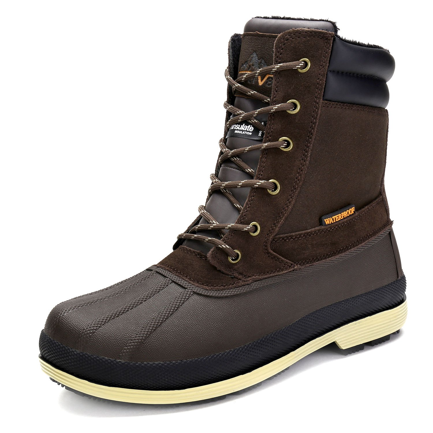 arctiv8 Men's nortiv8 170391-M Dk.Brown Black Insulated Waterproof Work Snow Boots Size 10 M US by arctiv8