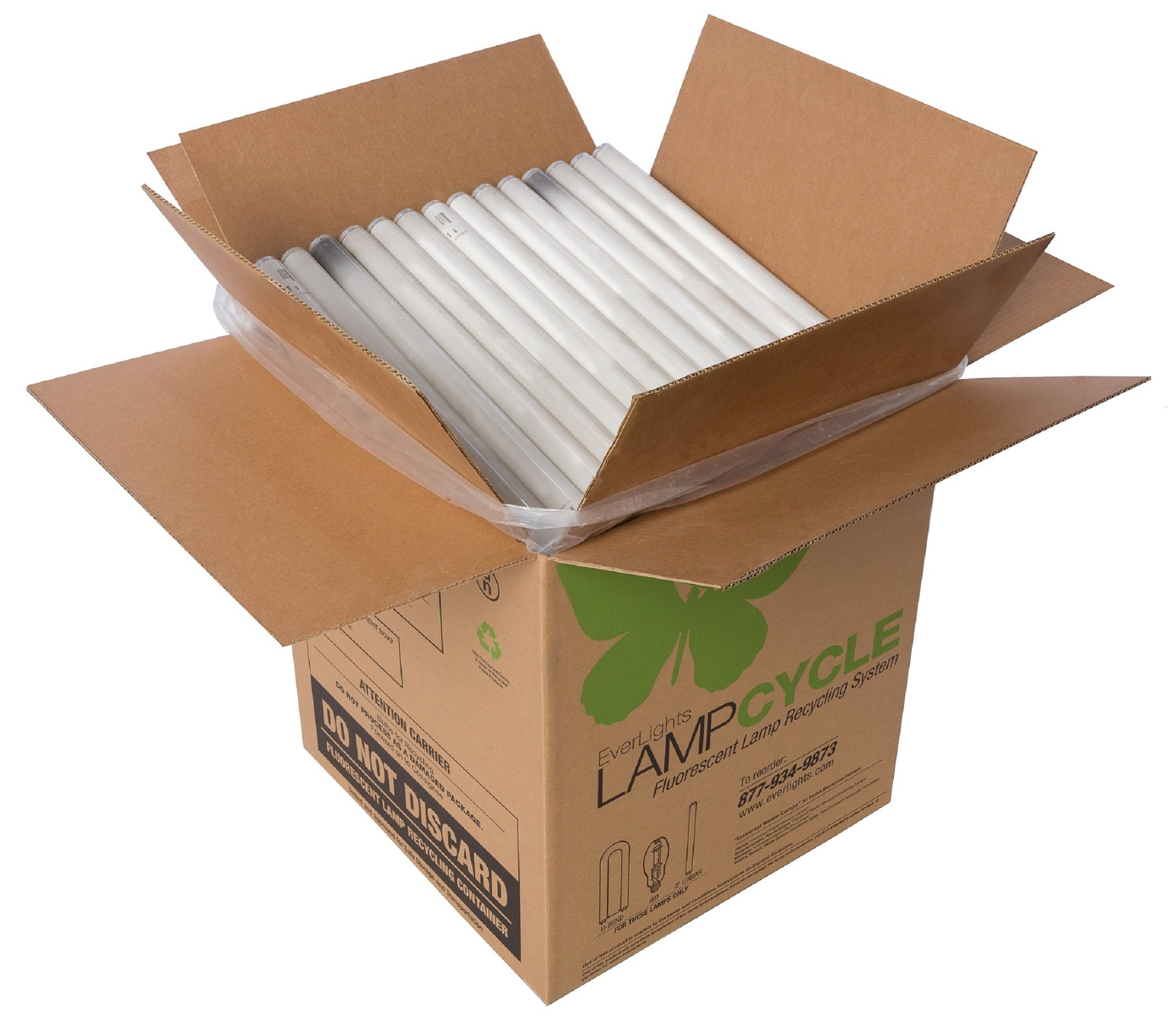 EverLights R2T882 LampCycle 2-Foot Linear Fluorescent Tube Recycling Kit, Small