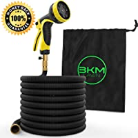 Garden Hose – 100 ft Heavy Duty Expandable - Premium Flexible & Expanding - 9-Pattern High-Pressure Water Spray Nozzle & Bag - No Kink Tangle-Free Lawn & Plant Watering –Triple Layer & Brass connector