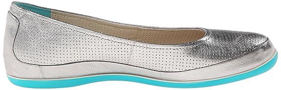 Ecco Delite Ballerina - Zapatos para Mujer, Color Silver, Talla 37