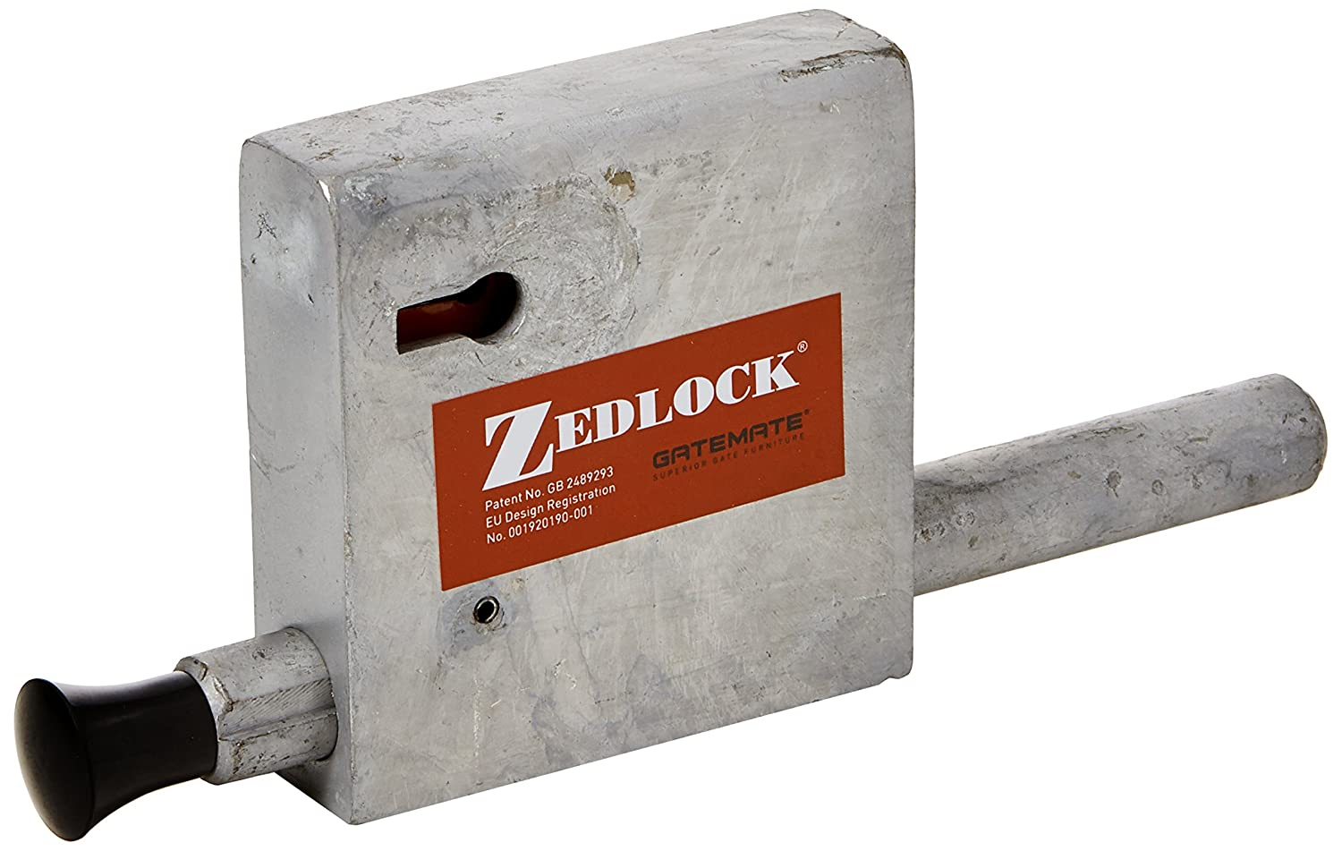 Zedlock 8900001 Throw Multi-Lever Zed Lock for 25 mm Gate P253, Galvanised, 70/100 mm BJA Trading t/a Birkdale Sales