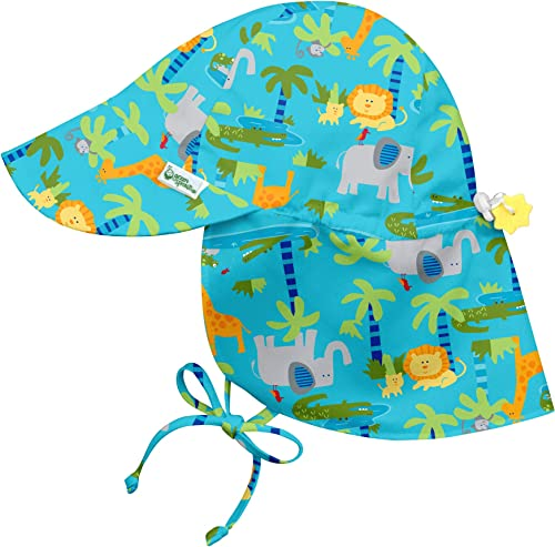 i play. by green sprouts Baby Boys' Flap Hat | All-Day UPF 50+ Sun Protection for Head, Neck, Eyes