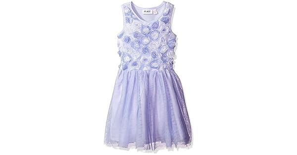 7c63c8e17522 The Children's Place Little Girls' Sleeveless Dressy Dresses, Purple 6204,  S (5/6)