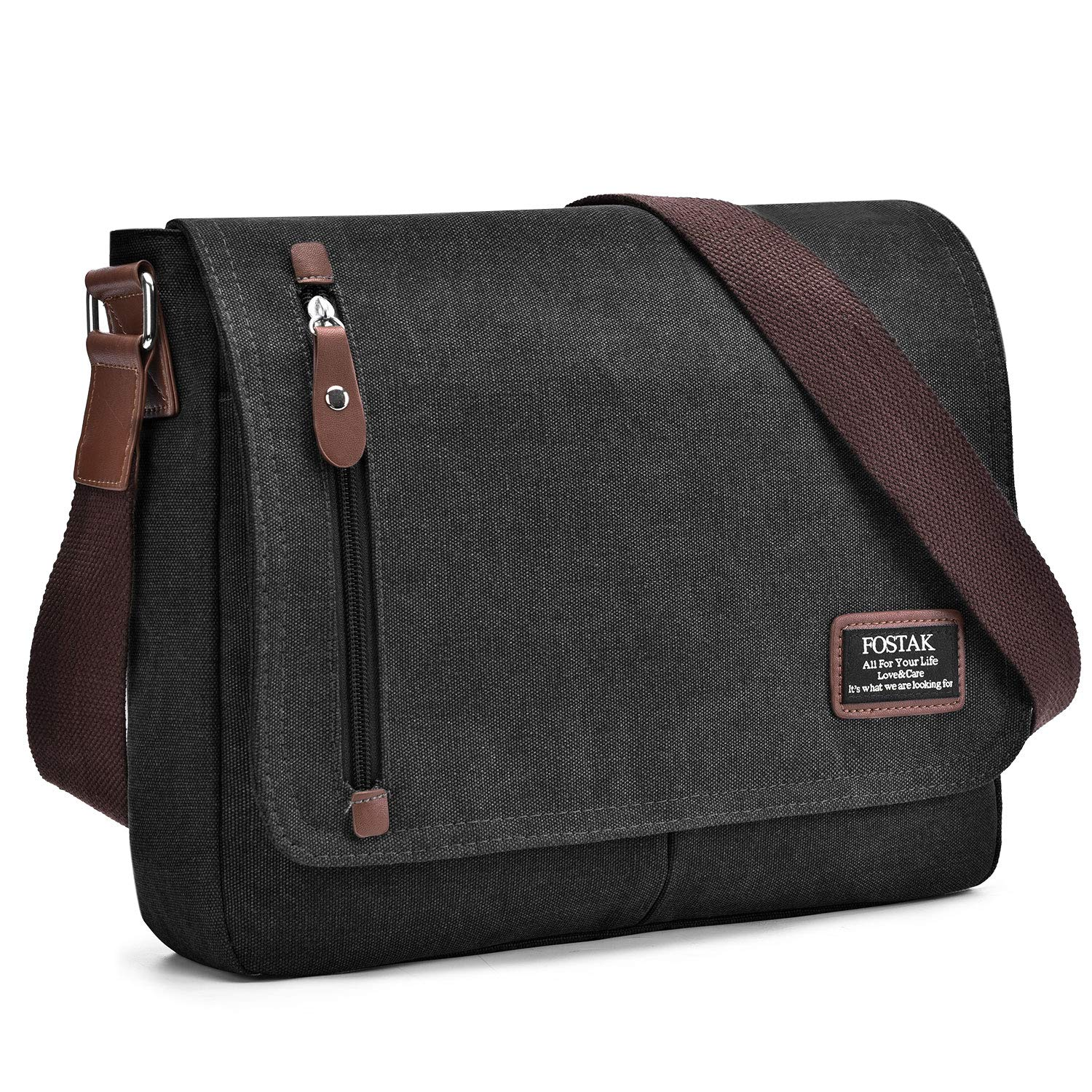 e809efcbb370 Messenger Bag 13.3 Inch for Men and Women Durable Canvas Shoulder Bag  Lightweight Briefcase Portable College Satchel for School Work Travel and  Daily Use