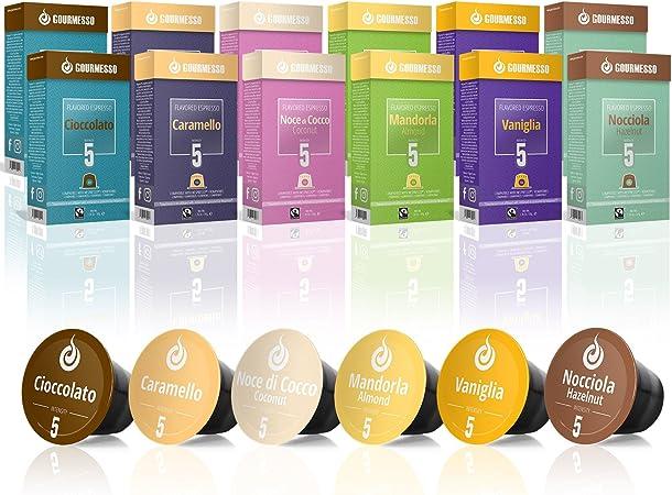 Gourmesso Caja de sabores – 120 cápsulas de café compatibles con cafetera Nespresso ®*: Amazon.es: Hogar