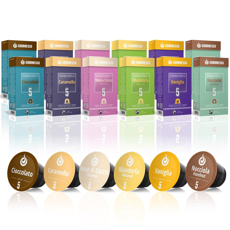 Gourmesso Caja de sabores - 120 cápsulas de café compatibles con ...