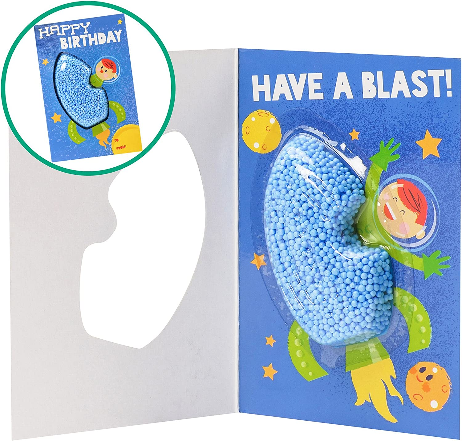 Learning Resources Educational Insights Playfoam Birthday Rocket Card Set of 4 1923R
