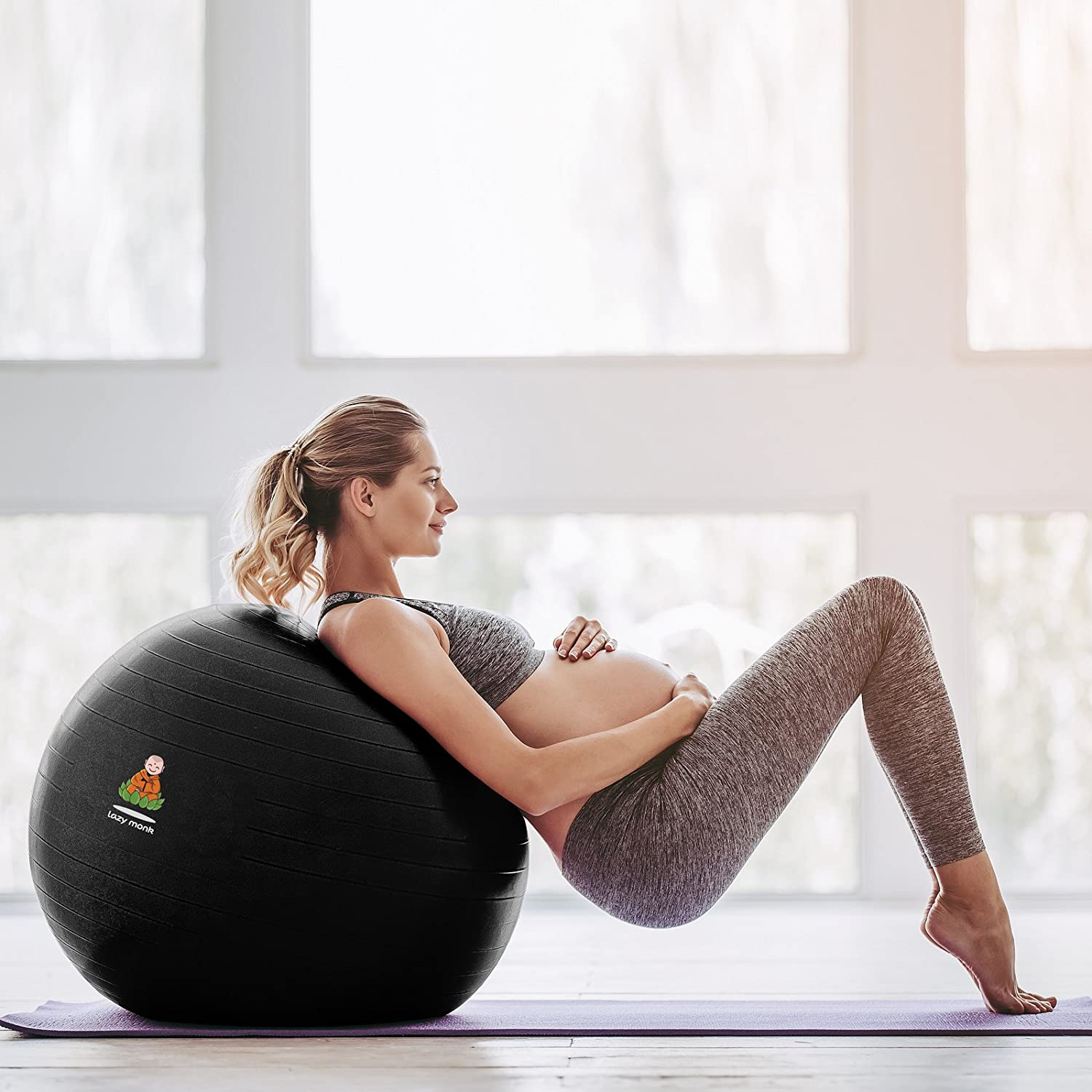 Amazon.com: Lazy Monk Exercise Ball, Fitness Workout & Chair ...