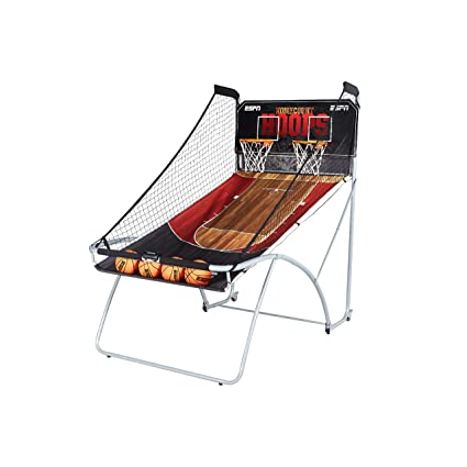 ESPN EZ Fold Indoor Basketball Game for 2 Players with LED Scoring and Arcade Sounds (