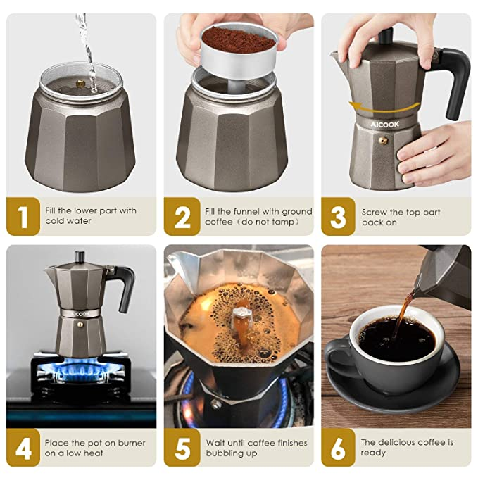 Amazon.com: #1 Cafetera Italiana Cafe Electrica Expresso ...