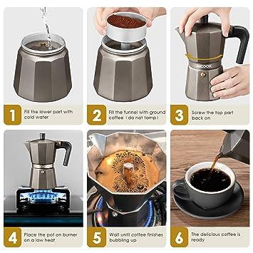 Amazon.com: Cafetera Italiana Cafe Electrica Expresso ...