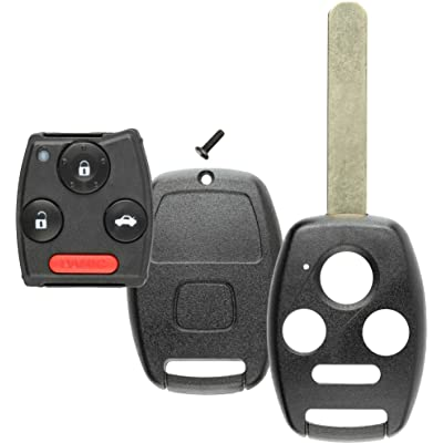 Discount Keyless Replacement Uncut Key Shell and Gut Case and Pad Compatible with Honda Civic Accord Pilot KR55WK49308, MLBHLIK-1T, N5F-S0084A: Automotive
