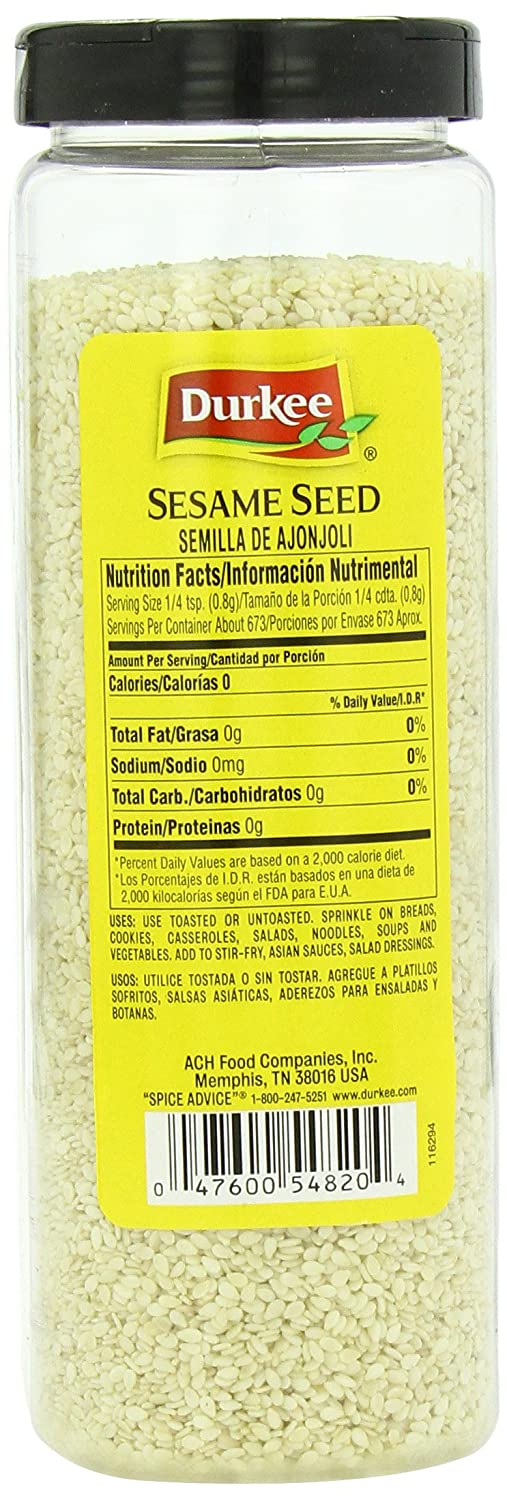 Amazon.com : Durkee Sesame Seed, 19 Ounce : Sesame Seeds Spices And Herbs : Grocery & Gourmet Food