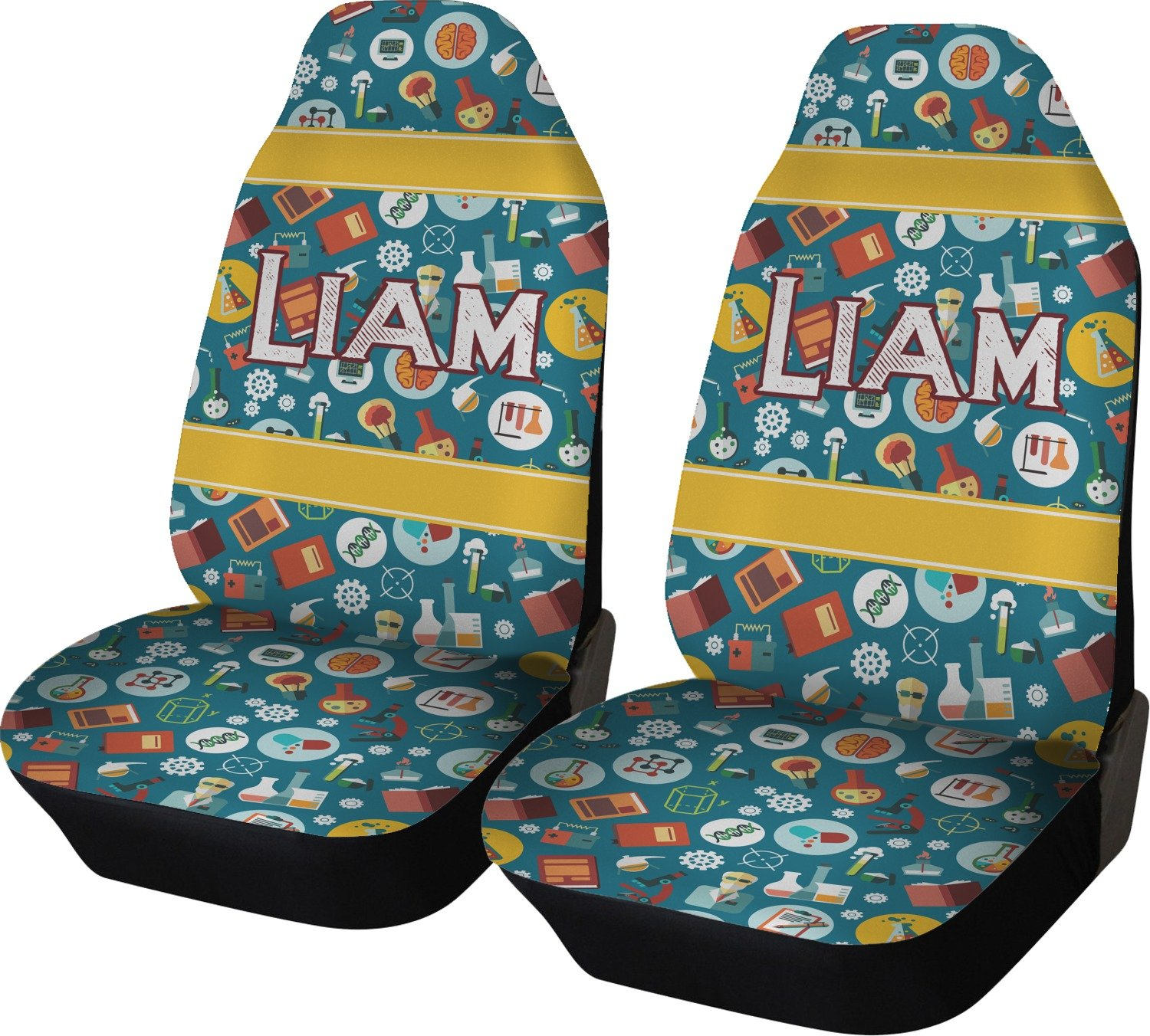 Rocket Science Car Seat Covers (Set of Two) (Personalized)
