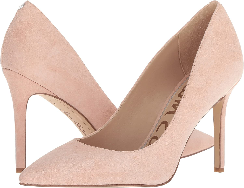 Sam Edelman Women's Hazel Dress Pump B07CR26FBN 7.5 B(M) US|Seashell Pink Suede