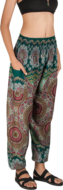 streetwear trendy boho kanji print drawstring harem pants w// suspender JJ2326