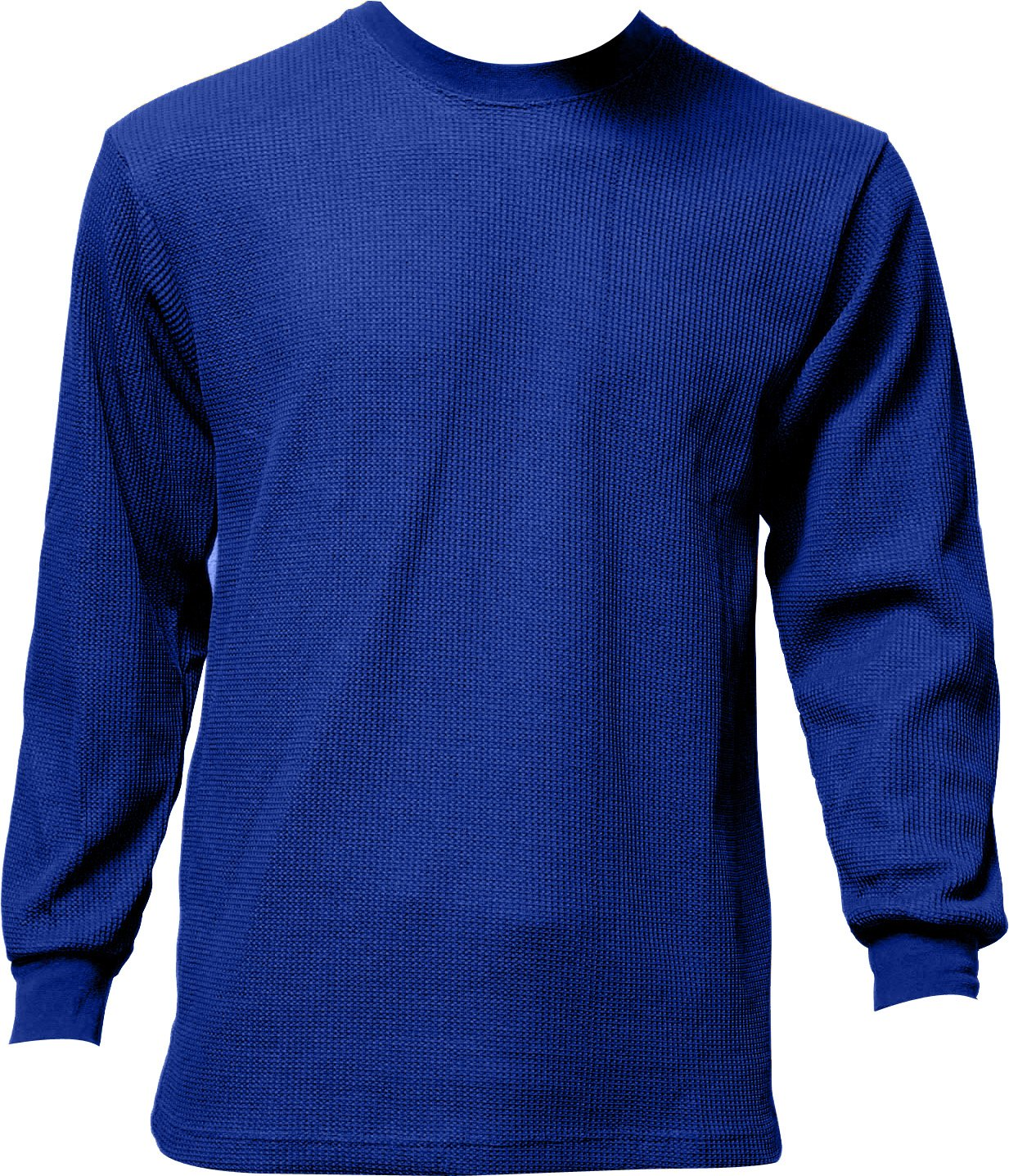 Men's Thermal Top Warm Winter 100% Cotton Many Colors, Blue, Medium