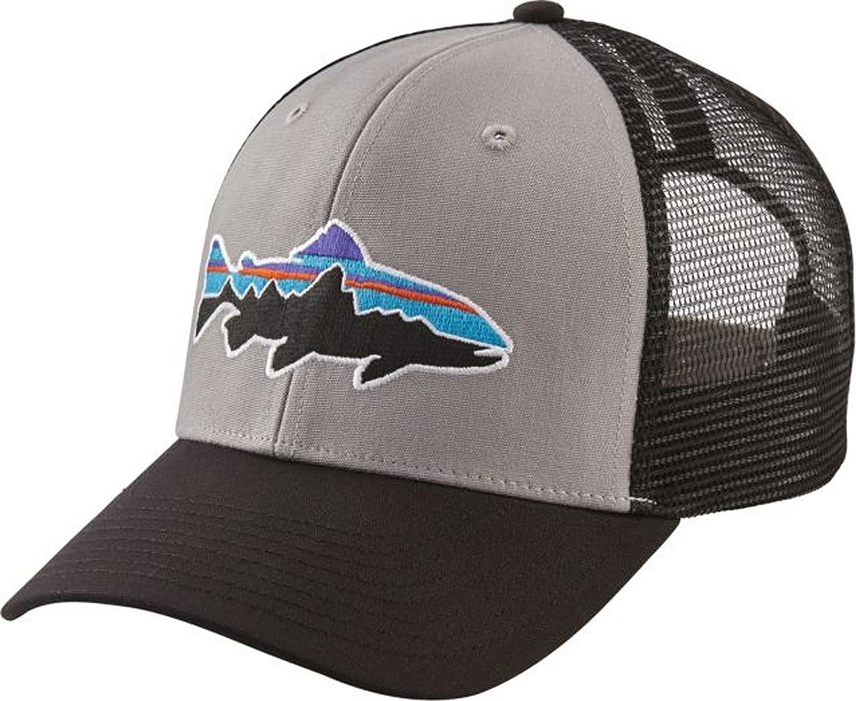 eafa20aebc3 Patagonia Men s Fitz Roy Trout Trucker Hat (Drifter Grey Black)   Amazon.co.uk  Sports   Outdoors
