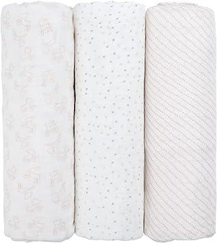 Mousseline de vêtements 100/% Coton Pack De 6 Multicolore séchage rapide carrés