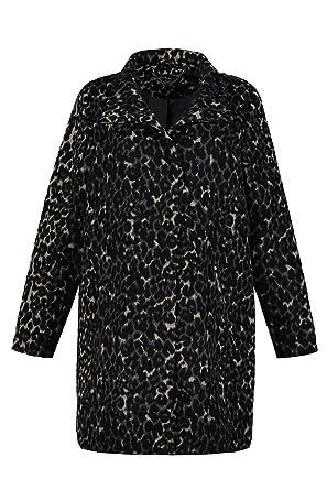 Ulla Popken Damen große Größen bis 62+   Mantel in Leoparden