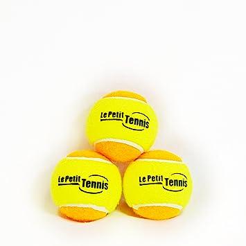 Le Petit Tennis - Pk3 amarillo-naranja (etapa 2) pelotas de tenis para niños - (para 1828,8 cm Court): Amazon.es: Deportes y aire libre