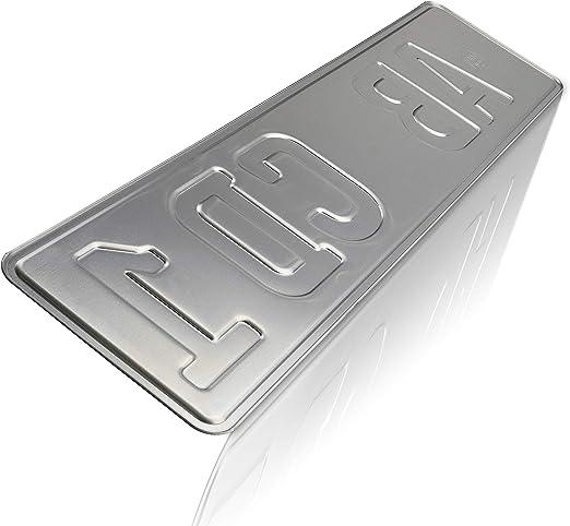 Utal 2 X Stück Eu Kfz Kennzeichen 42 Cm X 11 Cm Nummernschilder 420 Mm Mit Individueller Prägung Nach Ihren Vorgaben 420 Auto