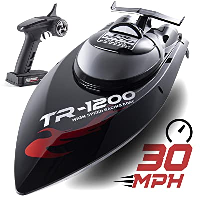 Remote Control Boat, 30 MPH Rc Boats for Adults, Rc Boat for Lakes, Auto Flip Recovery, Professional Series, Fastest Rc Racing Pool Boat Speed Boat Gift: Toys & Games