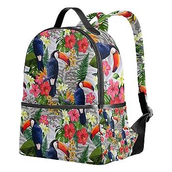 yzgo Tropical flores tucanes niños mochilas escolares para niños niñas jóvenes lienzo bookbags viaje bolsas para portátiles: Amazon.es: Electrónica