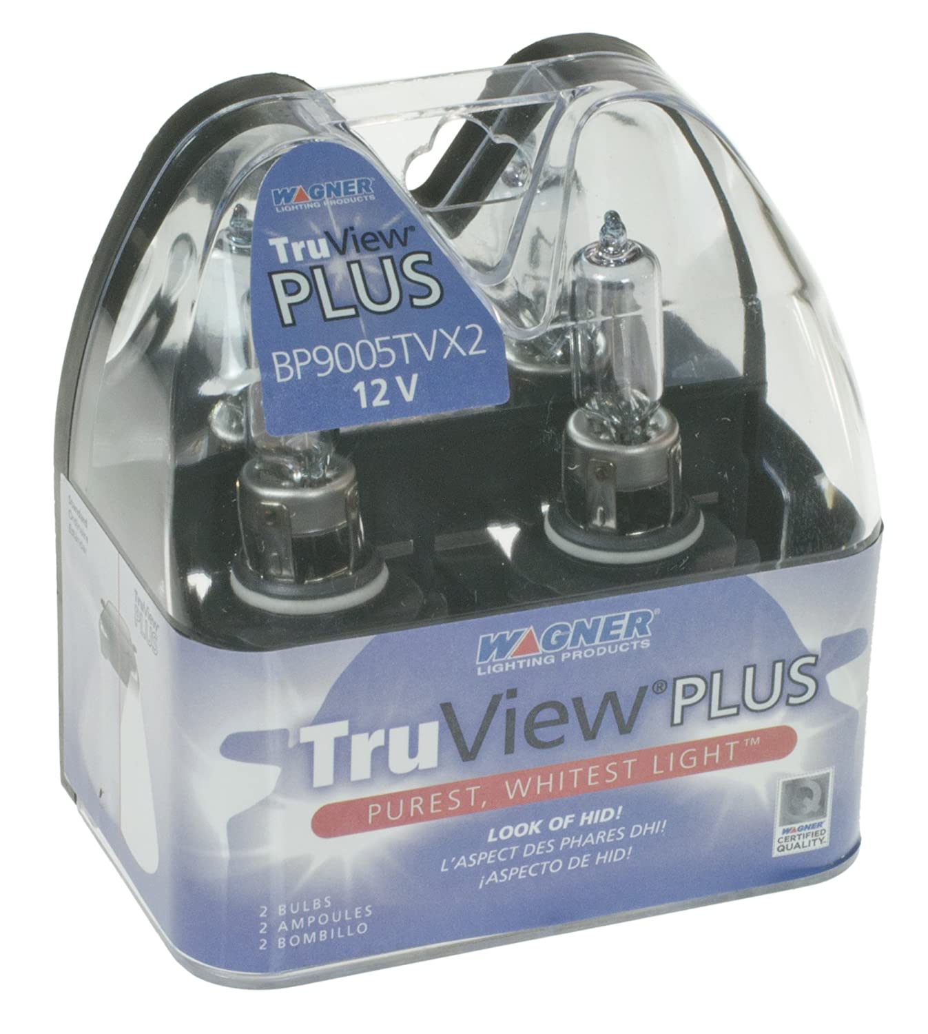 Wagner 9006 BP9006TVX2 TruView PLUS Headlight Bulb Pack of 2