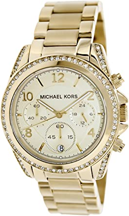 9222eedb78e5 Amazon.com  Michael Kors Women s MK5166 - Blair Chronograph Gold ...