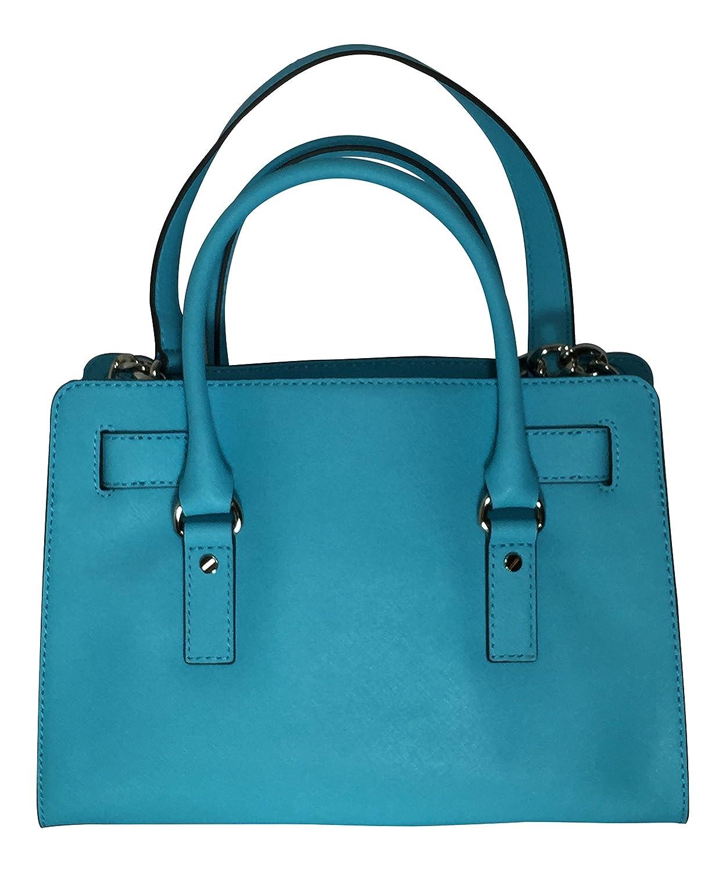 43f8d0c9cce4 Michael Kors Hamilton East West Satchel Aquamarine: Handbags: Amazon.com
