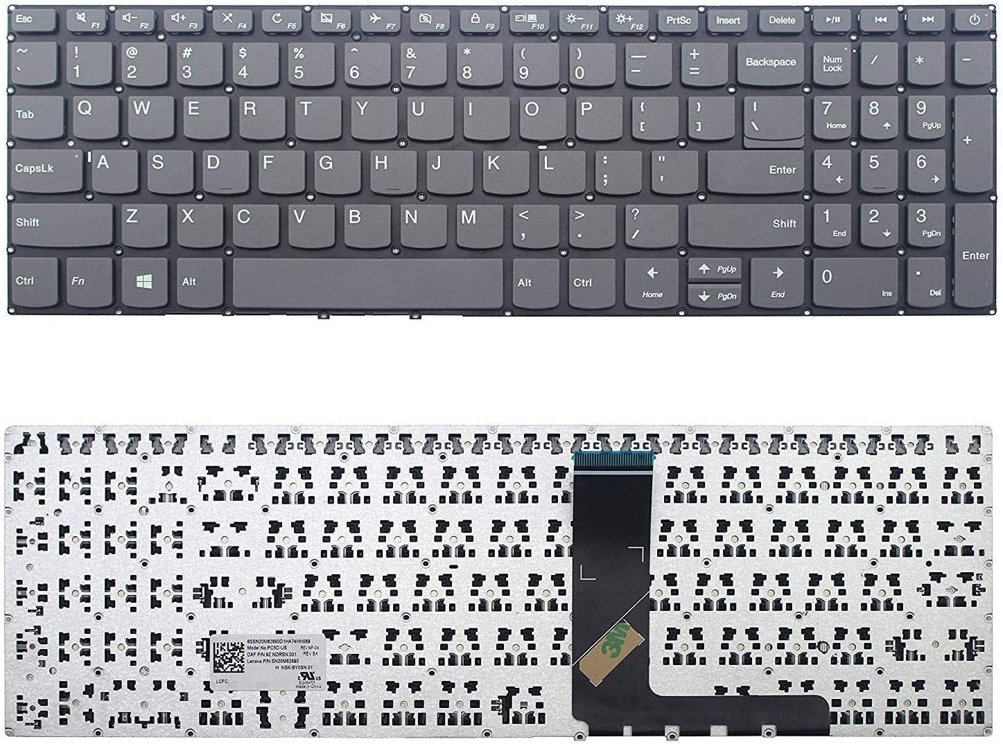 New US Black English Laptop Keyboard Without palmrest Replacement for Lenovo Ideapad 330S-15ARR 330S-15AST 330S-15IKB