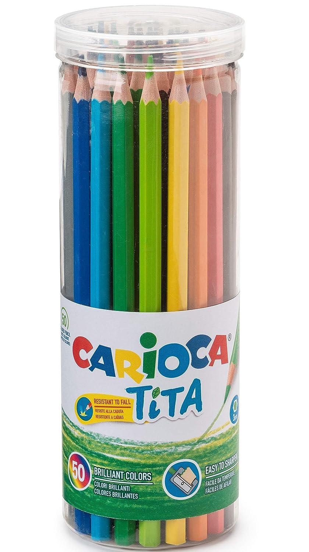 Carioca a11100012 tita - 50色鉛筆のJAR、色とりどりの B07HG9DVKV